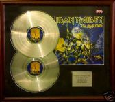 IRON MAIDEN - Double platinum disc & cover presentation